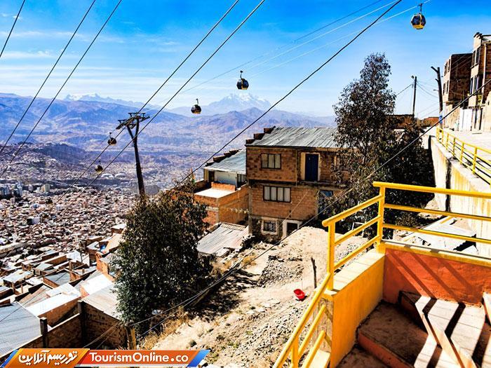 تله کابین در بولیوی.