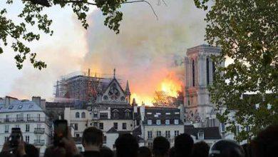 سوختن کلیسای نوتردام