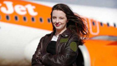 جوانترین خلبان زن