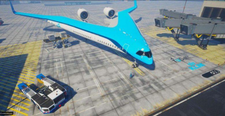 اولین هواپیمای تاریخ که مسافران را در بال خود حمل می کند!