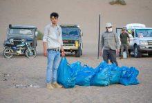 زباله در شنزار توریستی