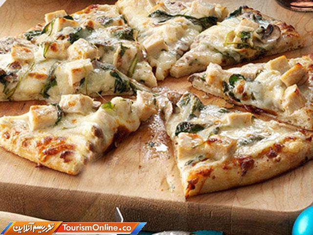 پیتزا چیکن آلفردو