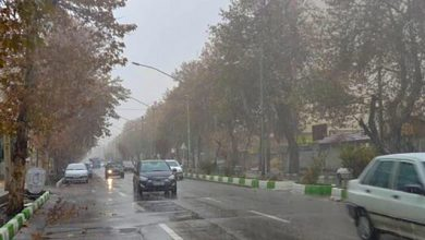 جادههای بارانی