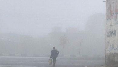 مه شدید کرمانشاه