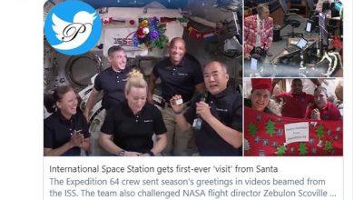 کریسمس در فضا