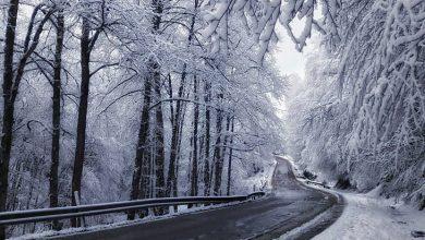 جاده برفی کلاردشت