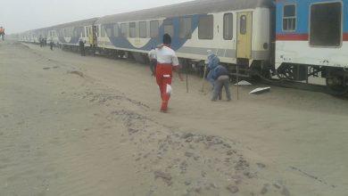 قطار و طوفان شن