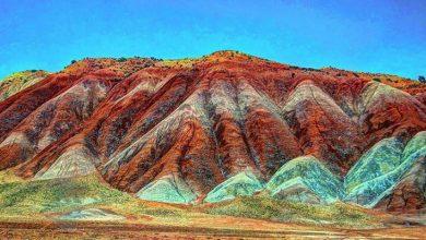 کوه های رنگی ماهنشان