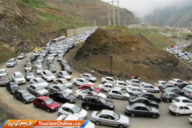 بارش باران و ترافیک