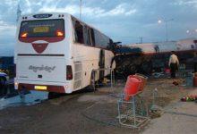 برخورد اتوبوس با تریلر