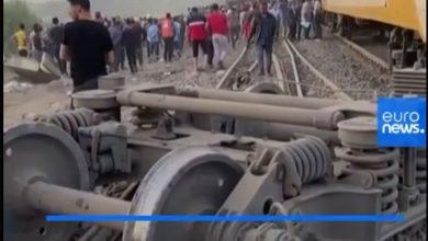 خروج قطار از ریل در قاهره